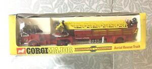 Corgi Major Toys Aerial Rescue Truck American LaFrance Fire Engine