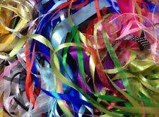 Bag / bundle Ribbon 20m ~ 10 X 2m Lengths ~ Mixed Colours ~ Various Widths