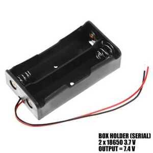 Batterie halter Akku 2x 18650 Kabel Batteriefach Akkufach 3.7V LiIon Series 2S1P