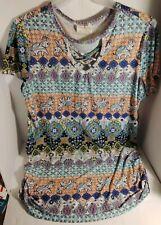L BOBBIE BROOKS-Women Size S XL Ladies Waist Jogger Multi-Color Blouse-Top