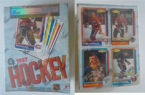 1986-87 O-Pee-Chee Hockey Empty Wax Box Grade NM 7 iCert