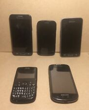 Lot Of 6 Used Samsung Cell Phones - Varied Conditions - Verizon, At&T, Android