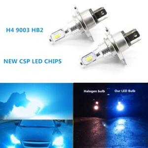 H4 9003 HB2 6000k 8000K Blue CSP LED Headlights Bulbs Kit High Low Beam Canbus