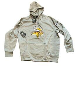 NWT New Minnesota Vikings Nike Men's Circuit Logo Pullover Hoodie Sweatshirt 3XL
