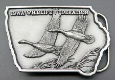Canada Geese Goose Iowa Wildlife Federation Vintage Belt Buckle