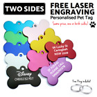 Pet ID Name Tag Personalised Bone Dog Puppy Kitten Cat Tags Customised Engraved