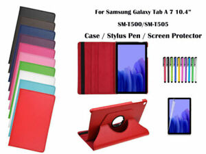 """360°Rotate Litchi Grain PU Leather Cover Case for Samsung Galaxy Tab A 7 10.4"""""""