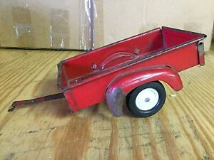 ERTL TRU SCALE RED UTILITY BOX TRAILER USED CONDITION 70s