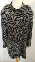 Vintage Joseph Ribkoff Creations Size 14 Tunic Top Cowl Neck Made in Canada