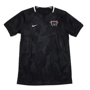 NIKE Dri Fit LEGENDS #4 Soccer Jersey T Shirt Mens M Medium Black Faux Henley