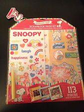 Peanuts Snoopy Scrapbook Kit Amusement Park 113 Pieces Stickers Paper Die-Cuts