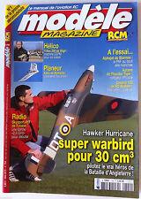 Modèle Magazine n°704 du 5/2010; Plan encarté K.Nar/ Planeur Xeno/ Hawker Hurric