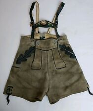 Lywana Lederhosen German Shorts Bavarian Cowhide Suede Western Germany