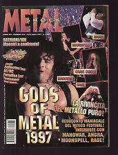 METAL SHOCK 243/1997 MANOWAR MOONSPELL AC/DC POSTER TESTAMENT + JOEY TAFOLLA