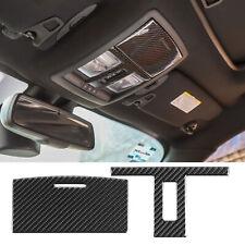 For Dodge Challenger 2015-2020 Real Carbon Fiber Front Reading Light Cover Trim