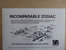 6/1982 PUB ZODIAC CANOT PNEUMATIQUE INFLATABLE COMMANDO ORIGINAL SPANISH AD