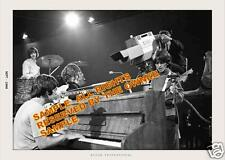 "THE BEATLES ON DAVID FROST 9/1968 DOING A LIVE ""HEY JUDE"" 5x7 LOT (2) BW & COLOR"