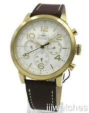 New Tommy Hilfiger Jake Multifunction Brown Leather Men Watch 46mm 1791231 $165