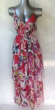 Stunning Multi-coloured Animale Tiered Maxi Dress, Spaghetti Straps Size 44 - 14