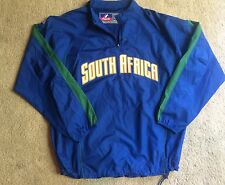 NWOT Majestic Cool Base Light Weight SOUTH AFRICA Soccer/Baseball Jacket Mens XL