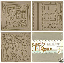 All Girl 8x8 Chip Board Album Box Set Fancy Pants New