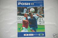Peterorough V Norwich Programa 3rd Agosto 2004