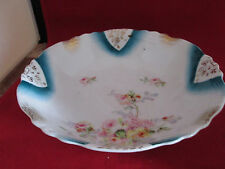 "Antique Flower Pattern Fine China Bowl 9.25"" x 2.5"""