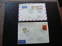 ALLEMGNE RFA - 2 enveloppes 1967 (cy12) germany