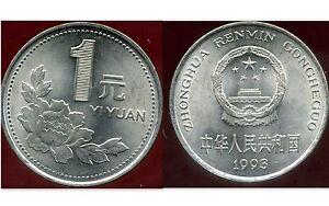 CHINE  1  yuan   1993