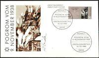 BRD 1988: Pogrom vom 9.11.1938! FDC Nr. 1389 mit Bonner Ersttagsstempeln! 1912