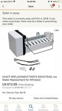 Exact Replacement Parts Er431794L Ice Maker Replacement For Whirlpool