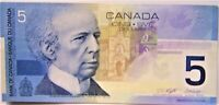 Canada  5 Dollar Banknote 2002 As Pictured