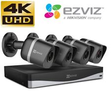 EZVIZ 4K Ultra HD 8MP Outdoor Network IP PoE CCTV 4 Chanel System  EXIR / IP67