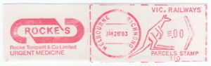 (I.B) Australia - Victoria Railways : Meter Parcel Stamp (Richmond)