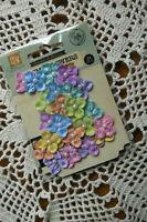 Velvet RAINBOW BRIGHTS - 24 Fabric Flowers Pearl Centre 20mm PRIMA 16