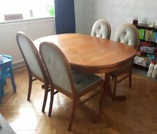 Teak Oval Dining Tables Sets with Extending