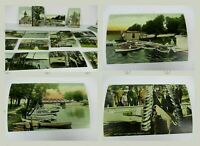 Vtg Antique 1920s Post card lot 16 pc  Made In Germany Lake Geneva Wis. FISHING