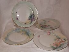 Vintage Haviland France*Limoges*Dessert Plates*Set of 4*Hand Painted*Flowers