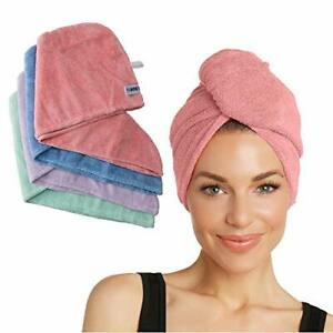 Turbie Twist Microfiber Hair Towel Wrap for Women and Men | 4 Pack | Quick Dr...