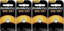 4 Pcs 303 357 Duracell Watch Silver Ox Batteries SR44W LR44