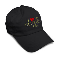 Soft Women Baseball Cap I Love My Devon Rex Cat Embroidery Pets Dad Hats for Men