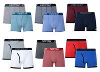 Firetrap 2 Pack Boxer Shorts Men's Underwear Cotton Stretchy Sporty Trunks DD7