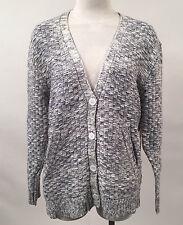Obey Women's Knit Sweater Walden Cardigan Indigo/Cream Size S NWT Shepard Fairey