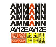 Sticker, aufkleber, decal - AMMANN AV12E