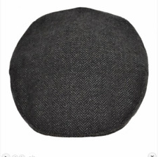 SALE Men Flat Cap Herringbone by G&H Hats Grey and Dark Grey Sizes from XS to XL