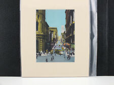 Powell Street Cable Cars and Turntable California Matted Picture