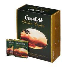 Greenfield Black Golden Ceylon 100 Tea Bags / 200g Black Tea