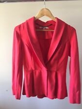REVIEW Red One Button Jacket Size 8