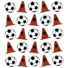 SOCCER BALL and CONES REPEATS - Jolee's Boutique Scrapbook Craft Sticker - Sport