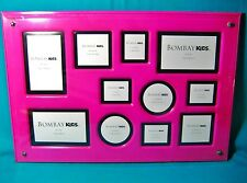 Bombay Girl's Kids Hot Pink Vanity Flat Desk Table Picture Frame Holds 11 Photos